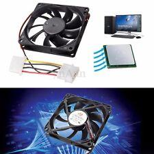 4 Pin 80mm 15mm Cooler Fan Heatsink Cooling Radiator For Computer PC CPU 12V