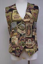 Billie Martin The Vest Company Tapestry Wine Grape Themed Vest Size M