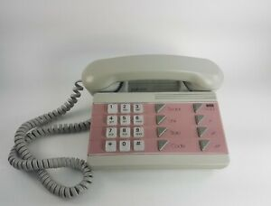 "Vintage 1980/90""s Northern Telecom Pink & Grey Landline Phone"