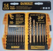 DEWALT 14-Piece Pilot Point & Drill Bit Set   DW1169  +FREE WORLDWIDE SHIPPING