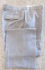 HUGO BOSS MARLOW Madle BEIGE MENS Linen/Cotton Flat Front PANTS,SIZE 40 W/31 L