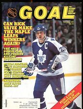 NHL Goal Magazine February 1985 Rick Vaive EX w/ML 012717jhe