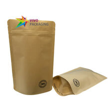 100% Biodegradable/Compostable Stand Up Pouch Eco Friendly Zip Lock Bag(100 pcs)