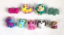 Squinkies Lot 9 Mixed Figures Dogs Pony Monkey Frog + More - Lot B