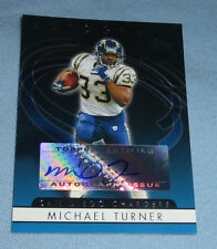 Michael Turner Signed 2006 Topps Autographs Football Card #TMT Chargers Falcons