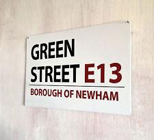 GREEN STREET WEST HAM CALCIO Street Sign A4 IN METALLO placca decor