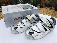 Giro Sante Womens Road Bike Shoes White Silver 37.5 EU 4.25 UK Brand New Cycling
