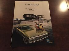 1971 Chrysler Royal (NOS) Dealer Sales Brochure