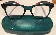 Zenni Women's Eyeglass Optical Square Style Frame 286216 and Zenni Case