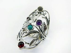 New SHABLOOL Unique Ring with mix stones 925 Sterling Silver Women Jewelry