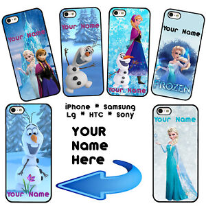Snowman Elsa Anna Olaf Phone Case Cover For iPhone Samsung LG Google Name
