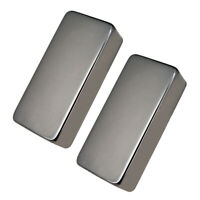 2 Pieces Sealed Humbucker Pickup Covers for Electric Guitar Parts Black