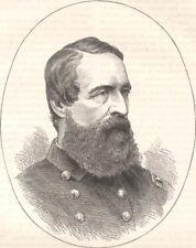 MILITARIA. Civil War. Admiral Porter c1880 old antique vintage print picture