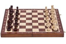 SQUARE - Wooden Chess Set No. 4 - MAHOGANY - Chess board & Chess Pieces