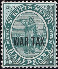St. Kitts-Nevis  War Tax 1916 1/2p