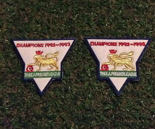 Premier League 1992-93 Champions Football Embroidered Adult Pair Arm Patches