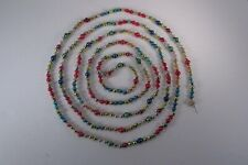 """Vintage 108"""" Mercury Glass Christmas Garland Multi-Colored Beads 2 Sizes"""