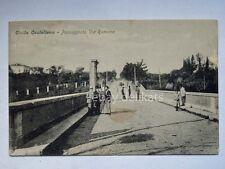 CIVITA CASTELLANA Passeggiata Via Romana Viterbo vecchia cartolina