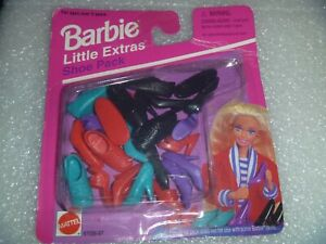 """Barbie Shoes - MIP Little Extras """"Shoe Pack  """" """" NEW """" By Mattel 4 Styles"""