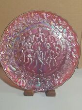 Lenox 12 Days of Christmas Leaping Lords Red Carnival Imperial Glass Plate 9""