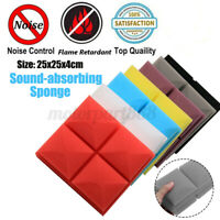 5pcs Acoustic Foam Panel Sound Stop Absorption Sponge Studio KTV Soundproof Pad
