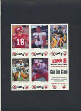 1989Vachon CFL Football Card Panels NM-MTU-Pick Allen Dunigan Ham Choose