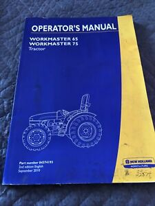 New Holland Operator's Manual -- WORKMASTER 65, WORKMASTER 75