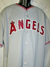ANAHEIM ANGELS BUTTON FRONT SHORT SLEEVE MAJID BASEBALL JERSEY SIZE XL MAJESTIC