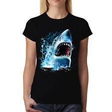 Shark Attack Bite Great White Shark Womens T-shirt S-3XL