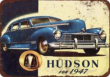 1947 Hudson Automobiles vintage look reproduction metal Sign 8 x 12