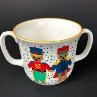 Vintage Gear Kids Marching Bears Sango White Double Handle Coffee Mug Tea Cup