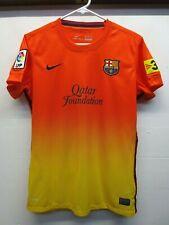 080681368eb EUC Nike 2012 LFP FCB Barcelona Unicef Qatar Foundation Soccer Football  Jersey M
