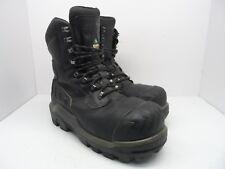 Dunlop Men's 8'' Composite Toe Composite Plate WP Leather Work Boots Black 12M