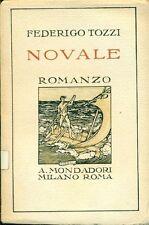 TOZZI Federigo - Novale. Diario. Mondadori 1925