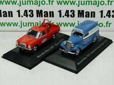 LOT 2 1/43 SALVAT Vehiculos Inolv. Servicios: Mercedes-Benz 220D et 170D