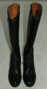 WOMEN'S  ARIAT  BLACK LEATHER  FIELD BOOTS  PULL ON  sz US 9  MADE IN ITALY