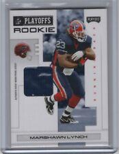 2007 Playoff NFL Playoffs Materials Rookie Black Jersey #123 Marshawn Lynch 3/5