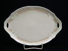 Tirschenreuth Fortuna rosa Rand Tablett f Milch & Zucker / Servierplatte 25,5 cm