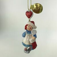Danbury Mint Raggedy Ann and Andy Glitter Ornament Sweet Treat Christmas
