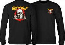 Powell Peralta Bones Ripper Long Sleeve Skateboard Shirt Black Large