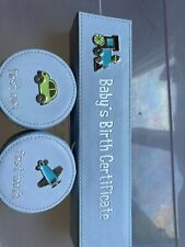 New listing Baby's First Boxes- Tooth, Curl, Birth Certficate
