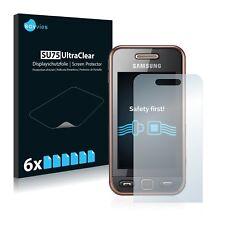 6x Displayschutzfolie für Samsung GT-S5230 Schutzfolie Klar Folie Displayfolie