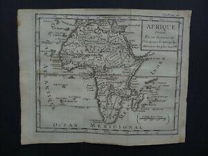 1736 DUFRESNOY Atlas map  AFRICA - AFRIQUE - Madagascar