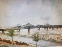 IC Vicksburg, MS Bridge #54 Cantilever design, N gauge L.E. Assembled  NICE!
