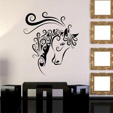 HORSE SWIRLS vinyl wall stickers for girls bedroom nursery wall decals
