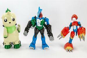 3 Vintage Digimon Bandai Incomplete Action Figures For Parts
