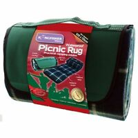 NEW WATERPROOF PICNIC RUG TRAVEL PET BLANKET OUTDOOR BEACH CAMPING LARGE FREE P