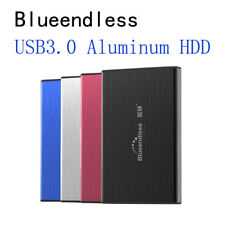 "Portable External 250GB Hard Disk Drive 2.5"" USB 3.0 Aluminum Backup Slim HDD"