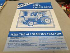 1980s ? ISEKI T5000 Tractor  New Zealand Sales Leaflet
