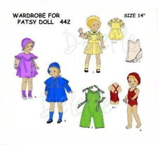 "442 Vintage Doll Clothes Wardrobe Pattern 14"" Patsy"
